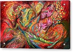 The Exotic Flowers Acrylic Print by Elena Kotliarker
