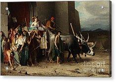 The Expulsion Or La Patricienne Romaine Expulsee Acrylic Print