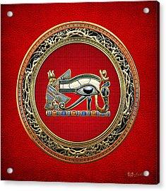 The Eye Of Horus On Red Acrylic Print