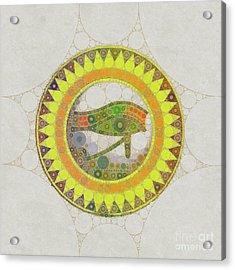The Eye Of Horus, Pop Art By Mb Acrylic Print