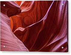 Acrylic Print featuring the photograph The Eye Of Lower Antelope Canyon by Pierre Leclerc Photography