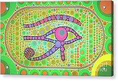 The Eye Of Ra By Mb Acrylic Print