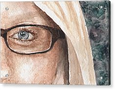 The Eyes Have It - Dustie Acrylic Print by Sam Sidders