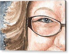 The Eyes Have It - Emma Acrylic Print by Sam Sidders