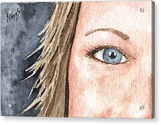 The Eyes Have It - Jill Acrylic Print by Sam Sidders