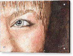 The Eyes Have It - Shelly Acrylic Print by Sam Sidders