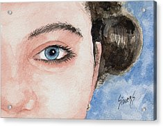 The Eyes Have It  - Audrey Acrylic Print by Sam Sidders