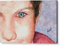 The Eyes Have It - Katie Acrylic Print by Sam Sidders