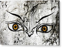 The Eyes Of Guru Rimpoche  Acrylic Print by Fabrizio Troiani