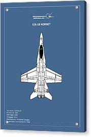 The F-18 Hornet Acrylic Print by Mark Rogan