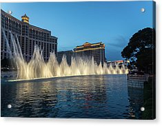The Fabulous Fountains At Bellagio - Las Vegas Acrylic Print
