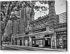 The Fabulous Fox Theatre Bw Atlanta Georgia Art Acrylic Print