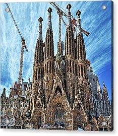 The Facade Of The Sagrada Familia Acrylic Print