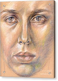 The Face In The Miror Acrylic Print