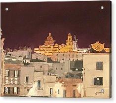 The Face Of Ostuni, Puglia Italy Acrylic Print