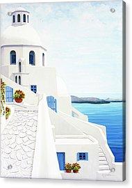 The Face Of Santorini Acrylic Print