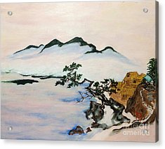 The Fading Spirit Of Chikanobu Awakened By Shintoism Acrylic Print by Sawako Utsumi
