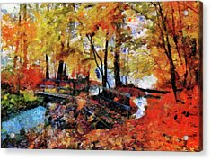 The Failing Colors Of Autumn Acrylic Print