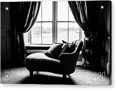 The Fainting Couch - Bw Acrylic Print