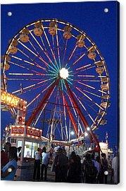 The Fair At Night Acrylic Print by Beth Akerman