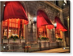 Acrylic Print featuring the photograph The Fairmont Copley Plaza Hotel - Boston by Joann Vitali