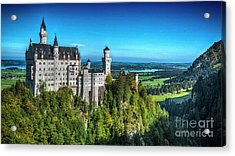 The Fairy Tale Castle Acrylic Print by Pravine Chester