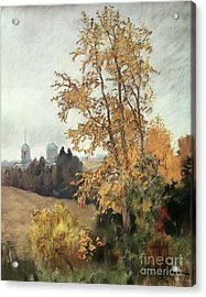 The Fall Acrylic Print by Isaak Ilyich Levitan