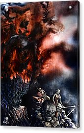 The Fall Of Azturath Acrylic Print by Curtiss Shaffer