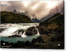 Acrylic Print featuring the photograph The Falls by Andrew Matwijec
