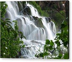Acrylic Print featuring the photograph The Falls by DeeLon Merritt