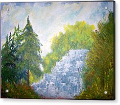 The Falls Acrylic Print by Eugene Coderre