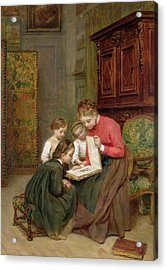 The Family Album Acrylic Print by Charles Edouard Frere