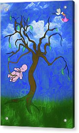 Acrylic Print featuring the digital art The Family Tree by John Haldane