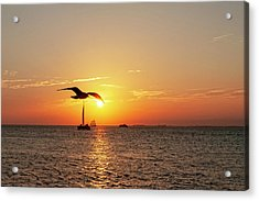 The Famous Key West Sunset  Acrylic Print