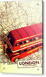 The Famous Red Bus Acrylic Print