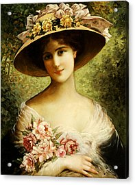 The Fancy Bonnet Acrylic Print by Emile Vernon