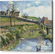 The Farm At Osny Acrylic Print by Camille Pissarro