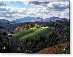The Farm On The Hill Acrylic Print