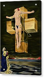 The Father Is Present -after Dali- Acrylic Print
