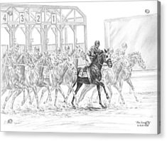 The Favorite - Horse Racing Art Print Acrylic Print by Kelli Swan