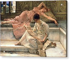 The Favourite Poet Acrylic Print by Sir Lawrence Alma-Tadema