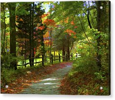 The Fence Acrylic Print by Jeff Breiman