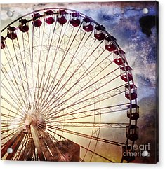 The Ferris Wheel At Navy Pier Acrylic Print by Mary Machare