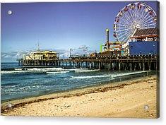 The Ferris Wheel - Santa Monica Pier Acrylic Print