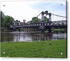 The Ferry Bridge Acrylic Print by Rod Johnson