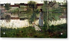 The Ferry Acrylic Print by William Stott
