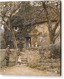 The Fiddler Acrylic Print by Helen Allingham