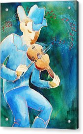 The Fiddler Acrylic Print by Marilyn Jacobson