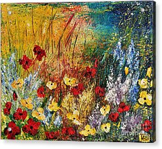 Acrylic Print featuring the painting The Field by Teresa Wegrzyn