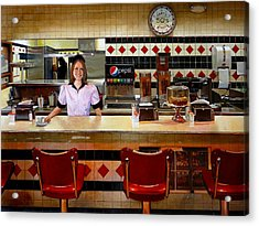 The Fifties Diner Acrylic Print by Doug Strickland